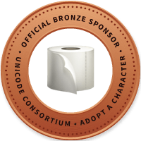 Unicode Consortium Official Bronze Sponsor of the bogroll emoji